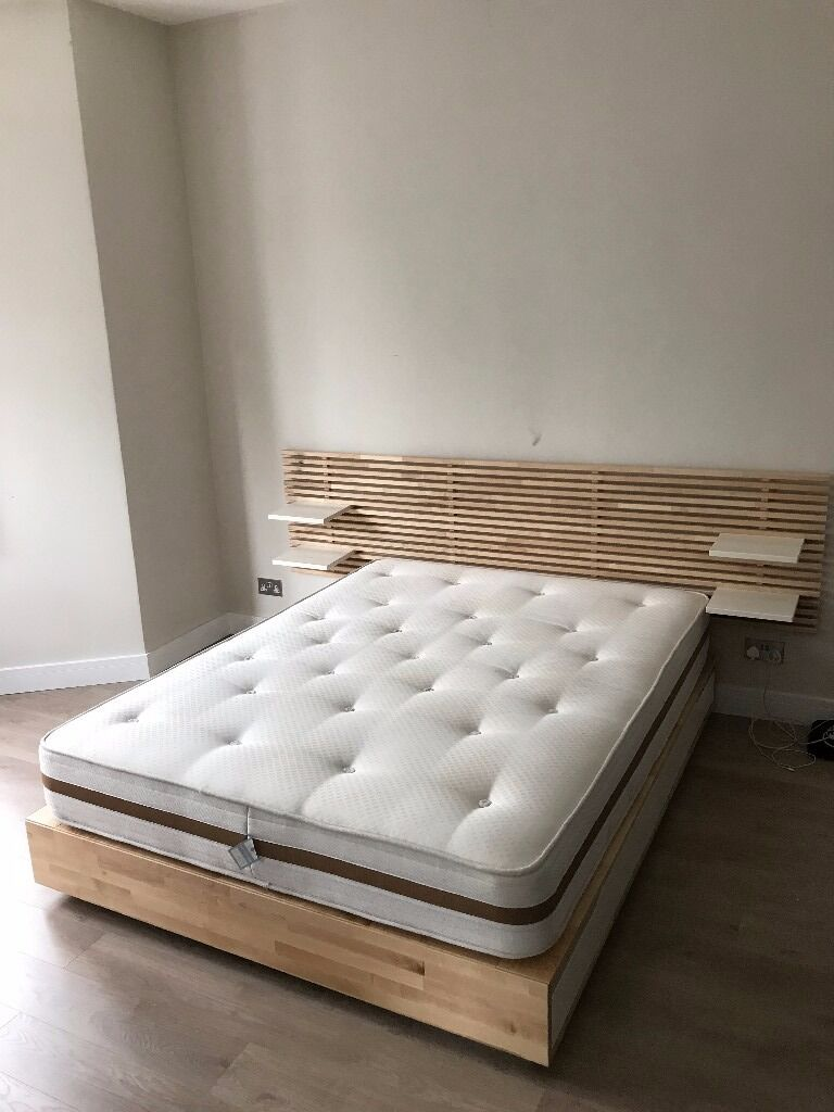 ikea mandal king size bed and headboard in finsbury park london gumtree. Black Bedroom Furniture Sets. Home Design Ideas