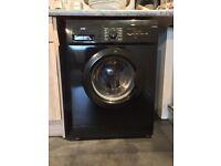 Logik black washing machine