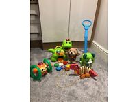 VTech feed me Dino/ little singing Alfie/ leapfrog step & learn Scout/ bright starts monkey