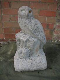 Owl on Tree Stump Garden Ornament