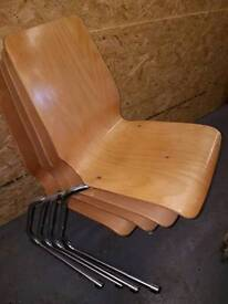 Retro Set of 4 stacking chairs
