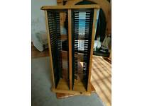 Pine cd/dvd/book storage swivel unit