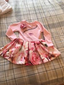 Girls pink A Dee dress