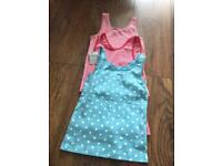 Girls summer tops x3 age 4-5 Years brand new