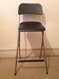 Ikea black bar stool
