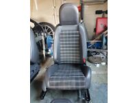 Mk5 golf gti half leather seats