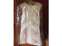 Cream ted baker bow detail dress size 12