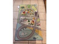 Car track rug