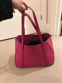 Russell & Bromley pink leather bag