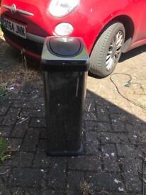 Flip top stainless steel kitchen bin