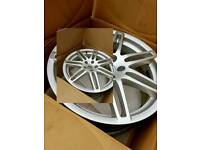 18 inch alloys with tyres 5 ×112