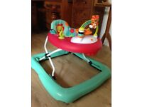 Baby walker - clean, good condition, with music and toys