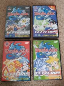 Beyblade DVDs volume 1-4