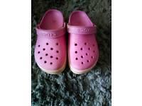 Girls light up Crocs size 2