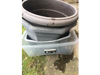 Large Garden Plant Pots and Storage Tubs