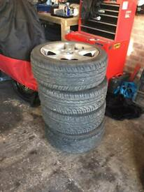 "Bmw sport alloys 17"" wheels rims tyres 5x120"