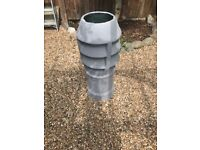 Old painted chimney pot
