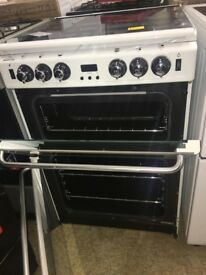 (ex display) Newworld Newhome 600TSIDOM Gas Cooker with Electric Grill - White - AA Rated