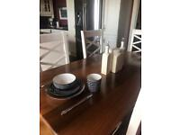 Maple solid wood extending dining table