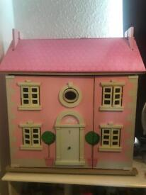 Beautiful doll house with full furniture & people
