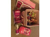 Barbie & Ken dolls plus cars, house etc