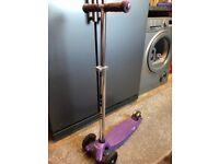 Purple micro maxi scooter