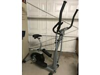 Pro Fitness Cross Trainer/Exercise Bike