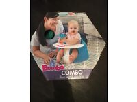 Bumbo Combo (Seat & Tray) used once - perfect condition