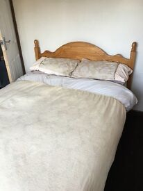 Pine double bed for sale