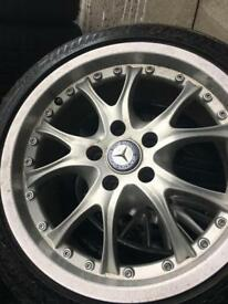 Mercedes single ally wheel for spare size 215/45-17 with good tier.