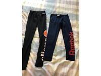 2 pairs genuine leggings. Reebok, Ellesse, 8-10