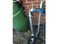 Water hydrant standpipe stand pipe with key alloy aluminium EXCELENT CONDITION