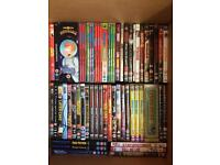 Lots of DVDs. Films. Music