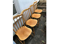 Vintage pine chairs