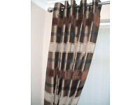"QUALITY FULLY LINNED BROWN CURTAINS L66"" X D72"" LOUNGE ETC,,"