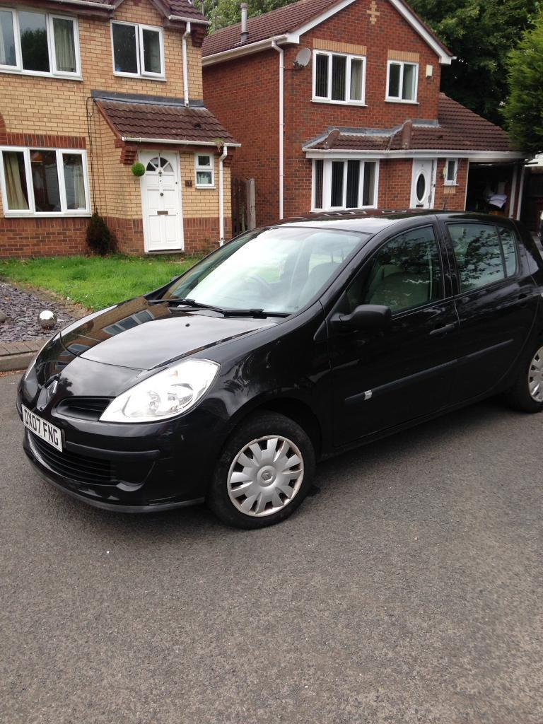2007/07 Renault Clio 1.4 Petrol Black 5 Door
