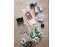 electrical tape,electric conect,junkcion box,plug,cable clips,cable tie