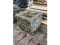 Small Decorative Stone/Concrete Plant Pot