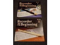 Recorder from the Beginning book 1 and 2