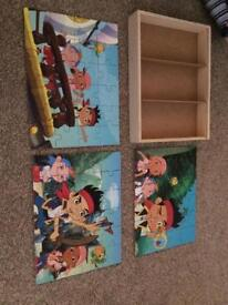 Jake and the Neverland Pirates wooden puzzles