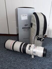 Canon EF 400mm F5.6 L Lens.