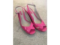 Hot pink wedges size 6/39