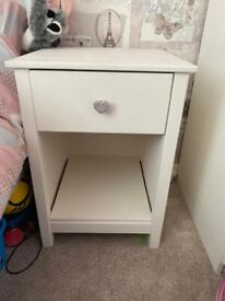Chest of drawers, wardrobe and bedside table