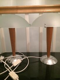 2 x matching Ikea table lamps