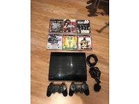 PlayStation 3 PS3 500gb 2 controllers 6 games