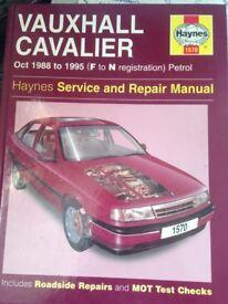 Vauxhall Cavalier Manual