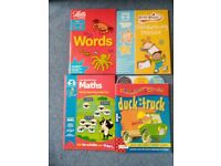 Age 4-5 workbooks, words, maths, handwriting practice, phonics. As new £5 for all