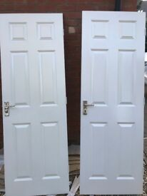 1 x textured, Bathroom/Bedroom interior doors - 6 panel
