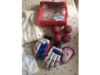 Boys cricket equipment