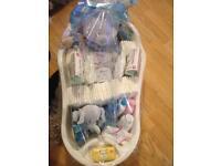 Baby shower gift set bath